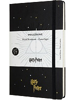 Notatnik Moleskine Harry Potter i  Insygnia Śmierci (duży 13x21) w Linie Czarny Twarda oprawa (Moleskine Harry Potter And The Deathly Hallows Limited Edition Notebook Ruled Large Hard Cover)