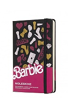 Notatnik Moleskine z serii Barbie P (9x14cm) Gładki Twarda oprawa (Moleskine Barbie Limited Edition Plain Notebook -Barbie Accessories)
