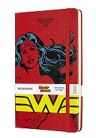 Notatnik Moleskine Wonder Woman L (duży 13x21) w Linię Czerwony Twarda oprawa (Moleskine Wonder Woman Limited Edition Notebook Ruled Large Hard Cover)