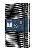 Notatnik Tekstylny Moleskine Blended L (duży 13x21 cm) w Linie Czarny Twarda oprawa (Moleskine Blended Ruled Special Notebook Textile Collection Large Black Hard Cover)