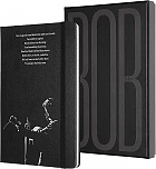 Notatnik Moleskine Bob Dylan L (duży 13x21) Kolekcjonerski Pudełko w Linie Czarny Twarda oprawa (Moleskine Bob Dylan Limited Edition Collector\'s Box Notebook Ruled Large Black Hard Cover)