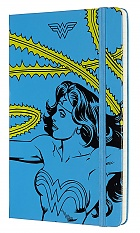 Notatnik Moleskine Wonder Woman L (duży 13x21) w Linie Niebieski Twarda oprawa (Moleskine Wonder Woman Limited Edition Notebook Ruled Blue Large Hard Cover)