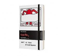 Notes Moleskine Keith Haring czysty, duży [13x21cm], biały twarda oprawa (Moleskine Keith Haring Limited Edition Notebook Large Plain Hard)