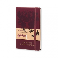 Notes Moleskine Harry Potter - EXPECTO PATRONUM w linię, duży [13x21 cm] (Moleskine Harry Potter Limited Edition Large Ruled Red - Expecto Patronum )