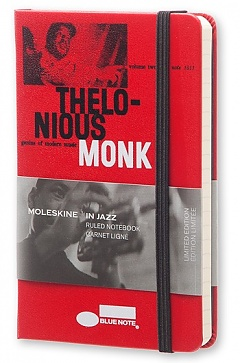 Notes Moleskine Blue Note IN JAZZ w linię, mały [9x14 cm] czerwona oprawa (Moleskine IN JAZZ Limited Edition Ruled Pocket Hard Cover)