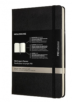 Notes Moleskine PRO Project Planner L (13x21 cm) Twarda Oprawa Czarny ( Moleskine PRO Project Planner Black Hard Cover)T